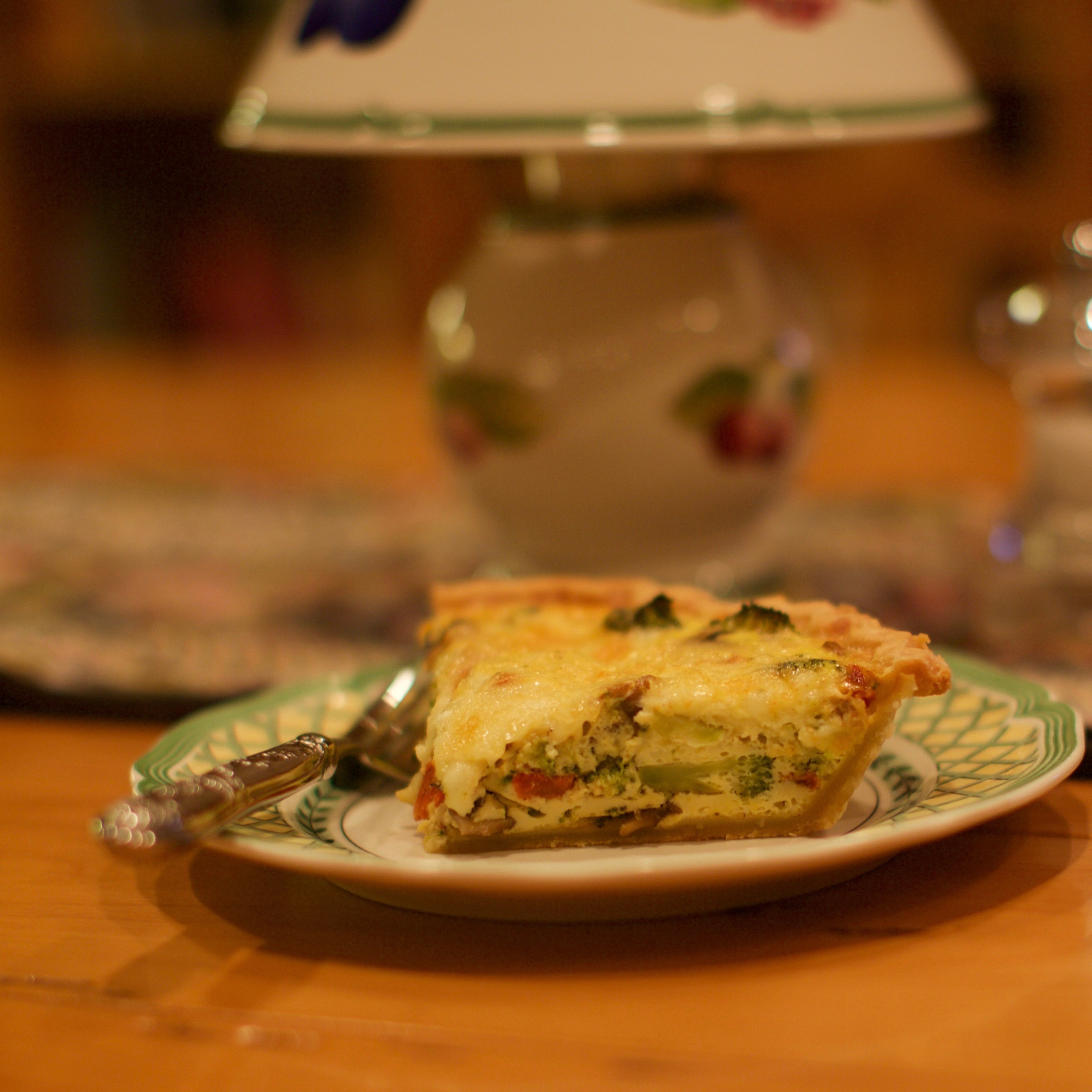 Vegetable and Cheddar Quiche